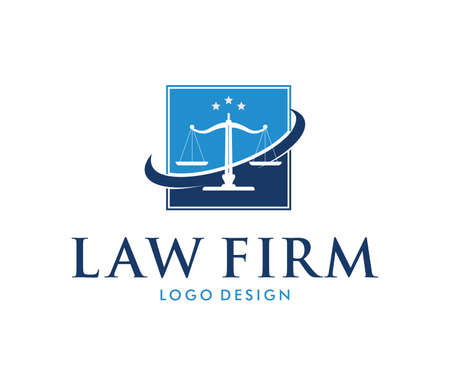 This is vector icon design illustration. Perfectly for branding like law firm business, attorney, advocate, court justice and everything related. Stock fotó - 94586432