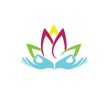 this vector logo design illustration is perfectly suitable for beauty wellness center, yoga exercise class, spiritual healing, beauty salon, comfy resort house and more 일러스트