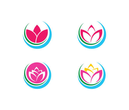 this vector logo design illustration is perfectly suitable for beauty wellness center, yoga exercise class, spiritual healing, beauty salon, comfy resort house and more Illustration
