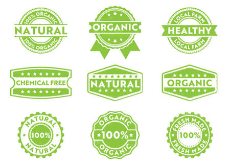 this vector stamp badge label is perfect suitable for marketing selling organic, natural, fresh made, chemical free, local products Illustration