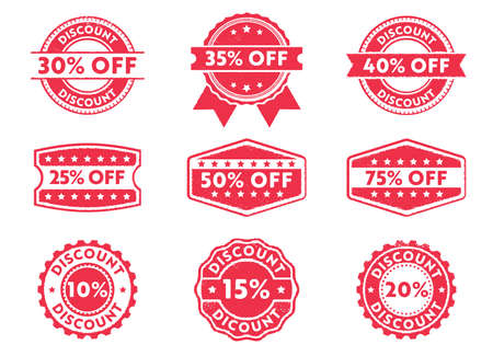 this vector stamp badge label is perfect suitable for discount mark, off priced, marketing, selling, with various number