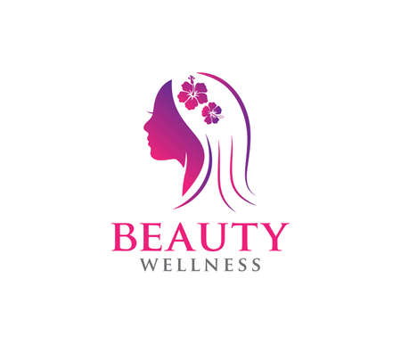 this vector icon design illustration is perfectly suitable for beauty women wellness, beauty salon, yoga class, cosmetic makeup and everything related.