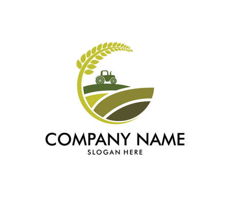 vector logo design perfectly suitable for agriculture.