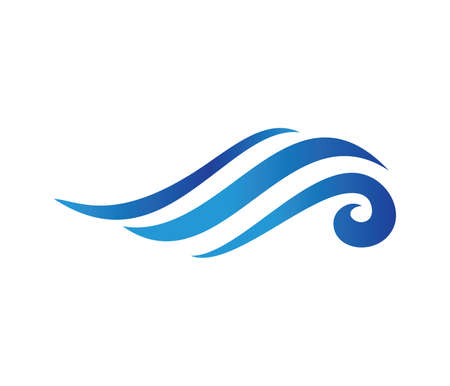 vector logo design perfectly suitable for dynamic wave, ocean sea water wave home resort, sailing boat, ocean cruise tour company and business 版權商用圖片 - 94623822