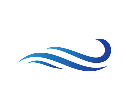 vector icon design perfectly suitable for dynamic wave, ocean sea water wave home resort, sailing boat, ocean cruise tour company and business 일러스트