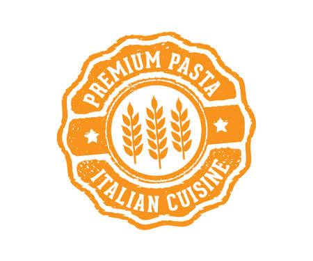 A vector label badge stamp tag design perfect suitable for pasta product marketing selling e-commerce online shop.