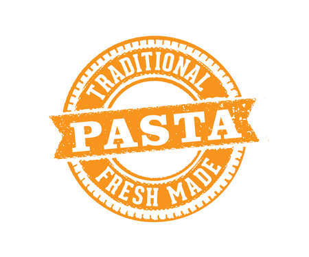 A vector label badge stamp tag design perfect suitable for pasta product marketing selling e-commerce online shop, with text premium, the best, traditional
