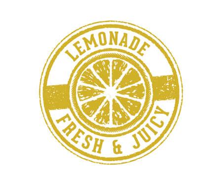 vintage vector label tag and stamp design perfect suitable for lemonade drink beverage and lemon juice, fresh made,