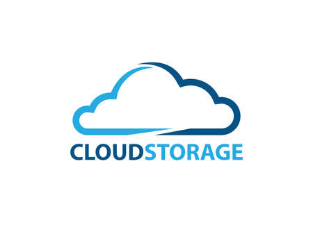 Online rapid fast cloud storage vector design for web icon, application icon, icons, brand identity and more. Illustration