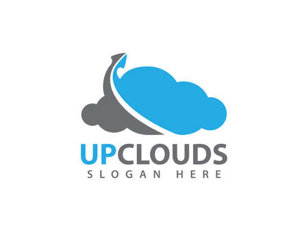 Online up cloud storage vector design for web icon, application icon, icons, brand identity and more.