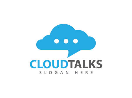 Online talk messenger chat cloud storage icon design for web icon, application, icons, brand identity and more. Illustration