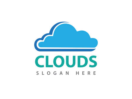 vector online cloud storage design for web, application, icons, brand identity and more