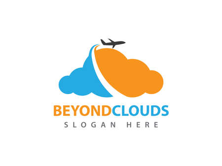 vector online travel beyond cloud storage design for web, application, icons, brand identity and more Illustration