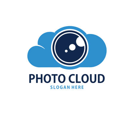 A vector online photo gallery cloud storage logo design for web logo, application logo, icons, brand identity and more