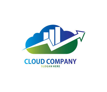 A vector online business management software cloud storage logo design for web logo, application logo, icons, brand identity and more