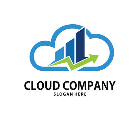A vector online consulting finance management cloud storage logo design for web logo, application logo, icons, brand identity and more