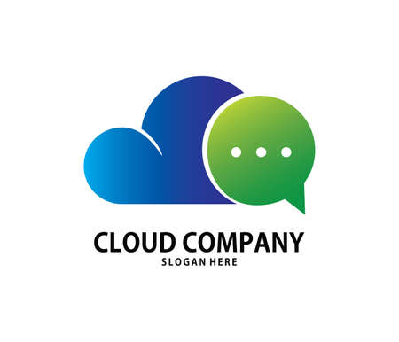 A vector online chat messenger cloud storage logo design for web logo, application logo, icons, brand identity and more