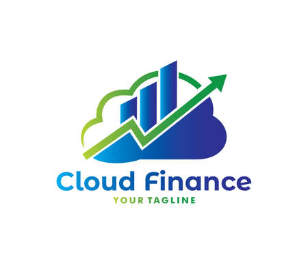 A vector online finance stock exchange management cloud storage logo design for web logo, application logo, icons, brand identity and more