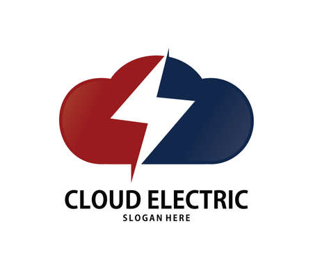 A vector online strong power cloud storage logo design for web logo, application logo, icons, brand identity and more
