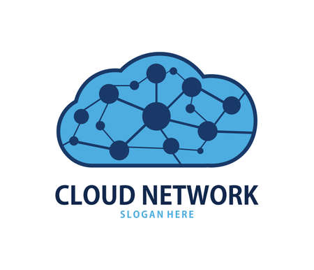 A vector online global network cloud storage logo design for web logo, application logo, icons, brand identity and more Illustration
