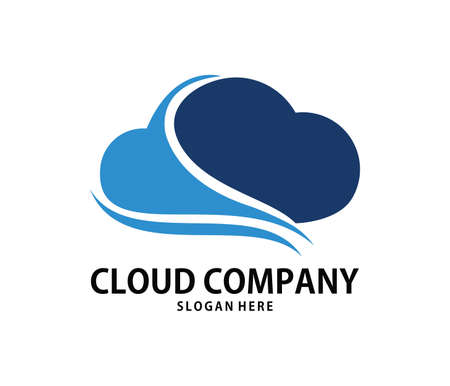 A vector online dynamic cloud storage logo design for web logo, application logo, icons, brand identity and more Illustration