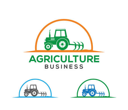 vector logo design and illustration of agriculture business, company, research, harvest, plant, technology, agronomy, filed, laboratory