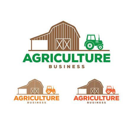 Design de logotipo de vetor e ilustração de agricultura empresarial, empresa, pesquisa, colheita, planta, tecnologia, agronomia, arquivado, laboratório Foto de archivo - 94904002