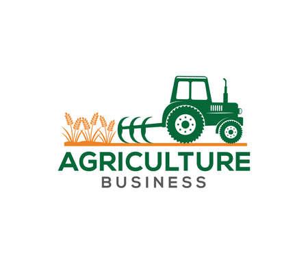 Design de logotipo de vetor e ilustração de agricultura empresarial, empresa, pesquisa, colheita, planta, tecnologia, agronomia, arquivado, laboratório Foto de archivo - 94904010