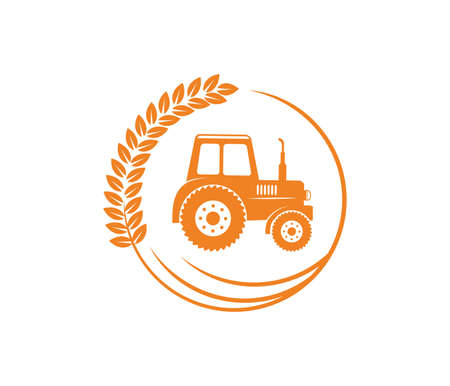 vector logo design and illustration of agriculture business, company, research, harvest, plant, technology, agronomy, filed, laboratory Reklamní fotografie - 94904025