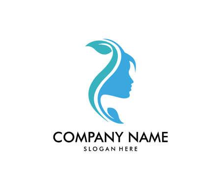 vector logo design for beauty salon, dermatology center and wellness house.