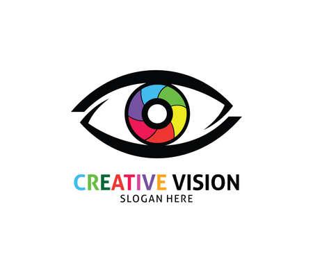 Optical technology eye future vision vector logo design template