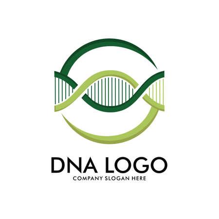 DNA helix scientific laboratory vector logo design template