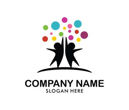 enfant éducation et vecteur de conception de logo de logo de l & # 39 ; enseignement de