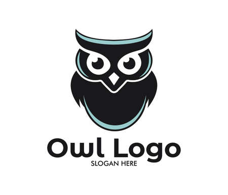 owl vector logo design template