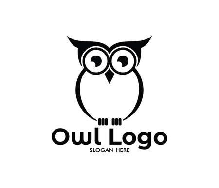 owl vector logo design template