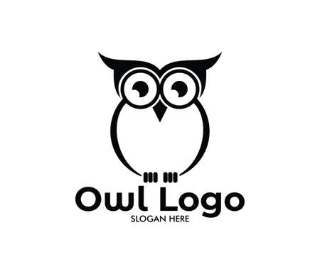 owl vector logo design template Stock fotó - 96278778