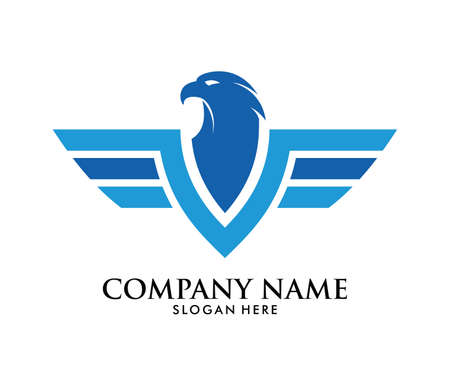A force freedom strong eagle phoenix vector logo design template