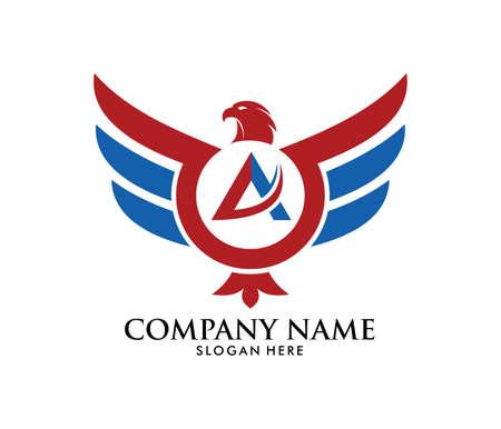 Eine Adler-Phoenix-Vektorlogo-Designschablone der Kraftfreiheit starke