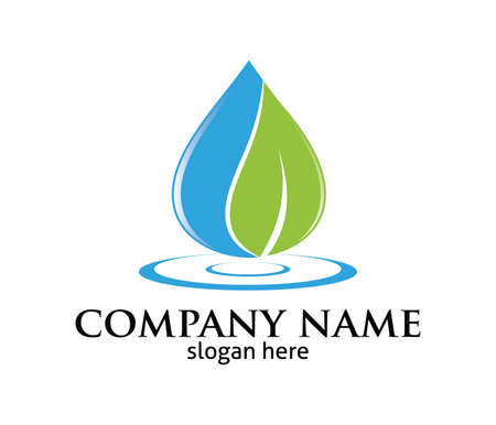 Water drop leaf pure source vector  design template. Banco de Imagens - 96388270