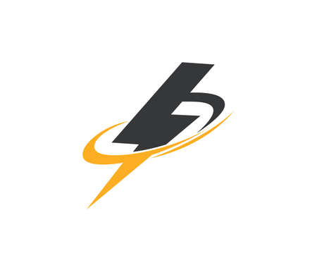 Fast lightning power electricity vector logo design template Illustration