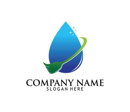 Progettazione professionale di logo di vettore di manutenzione della famiglia di servizio di lavaggio di pulizia professionale