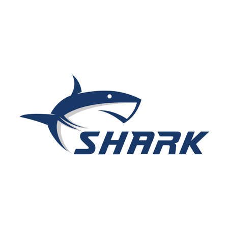 Mascot shark electronic sport game vector logo design template