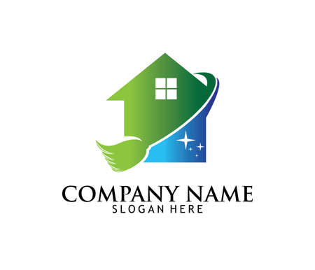 Vektor-Logodesign des Berufsreinigungswaschservice-Haushaltswartungs