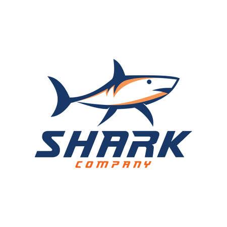 mascot shark electronic sport game vector logo design template