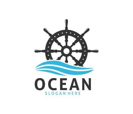 nautical navy cruise vector logo design Ilustração