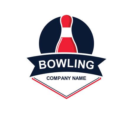 Bowling sport image icon illustration Illustration