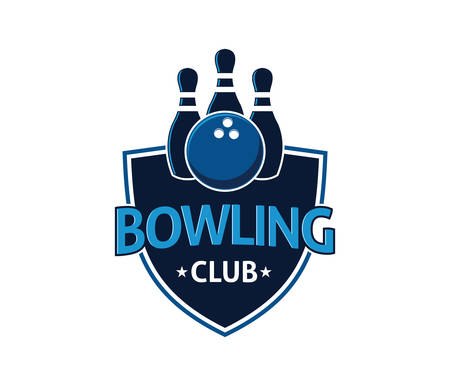 Bowling sport icon image illustration
