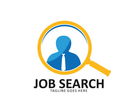 Job vacancy work search vector icon design template Illusztráció