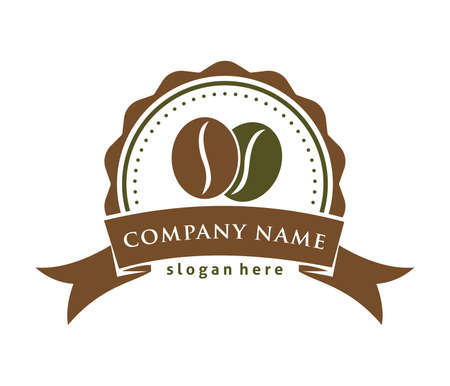 Coffee cafe bistro vector logo design template Stok Fotoğraf - 98422436