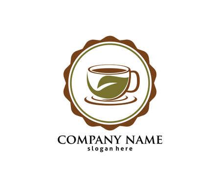 Coffee cafe bistro vector logo design template Stok Fotoğraf - 98422437